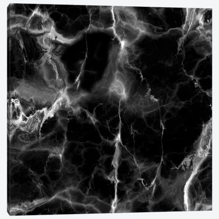 Black Marble Canvas Print #CVA7} by Chelsea Victoria Art Print