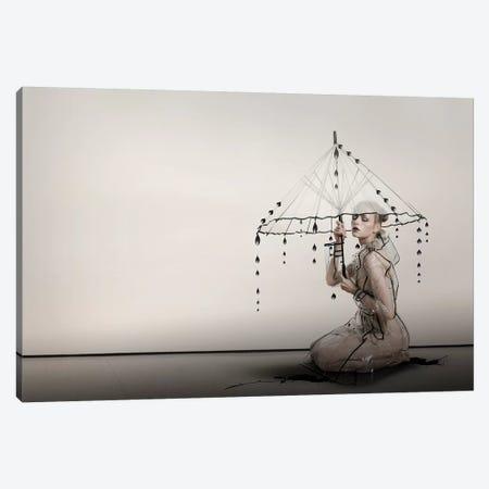 Black tears Canvas Print #CVD1} by Christine Von Diepenbroek Canvas Print