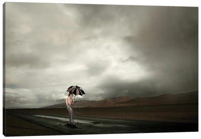 The Rain Girl Canvas Art Print