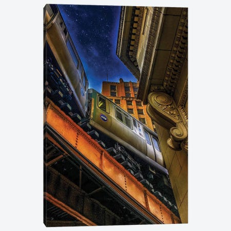 Financial Express Canvas Print #CVE13} by Caitlin Vera Canvas Art
