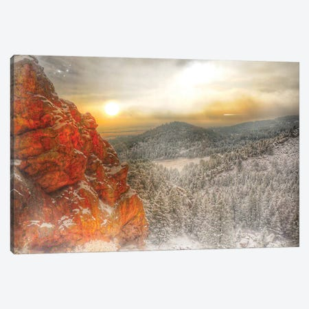 Fire Rock Canvas Print #CVE14} by Caitlin Vera Canvas Print