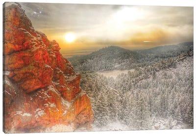 Fire Rock Canvas Art Print