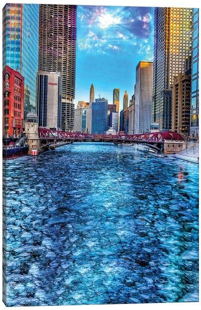 Ice River Canvas Art Print