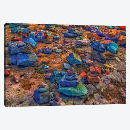 Rainbow Rocks Canvas Print #CVE29} by Caitlin Vera Art Print
