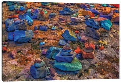 Rainbow Rocks Canvas Art Print