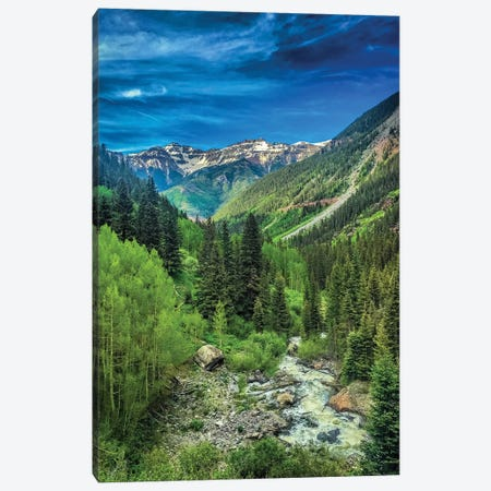 Bear Creek Falls Canvas Print #CVE2} by Caitlin Vera Canvas Wall Art