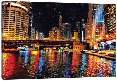 River Colors Canvas Art Print