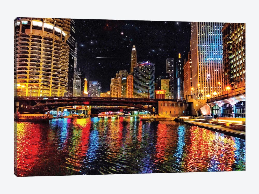 River Colors by Caitlin Vera 1-piece Canvas Wall Art
