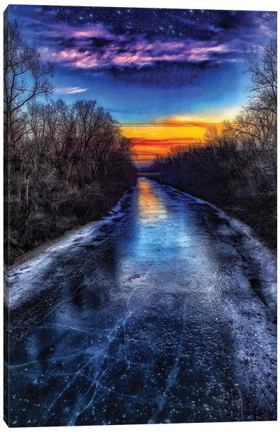 Sunset Drive Canvas Art Print