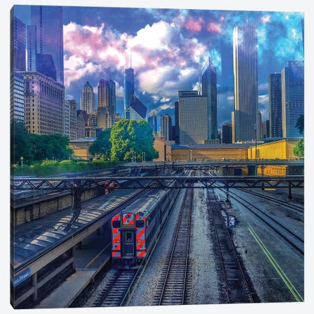 Track Number 3 Canvas Print #CVE46} by Caitlin Vera Canvas Wall Art