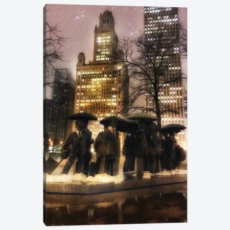 Umbrella Men Canvas Print #CVE48} by Caitlin Vera Canvas Print