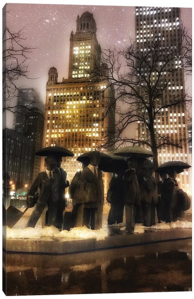 Umbrella Men Canvas Art Print
