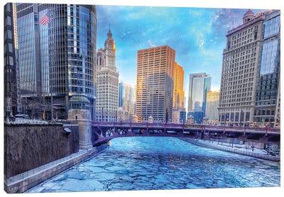 Wabash Street Ice Canvas Art Print