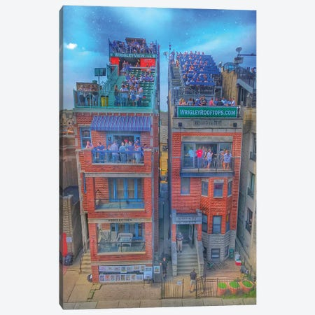 Wrigley Roofs Canvas Print #CVE54} by Caitlin Vera Canvas Art Print