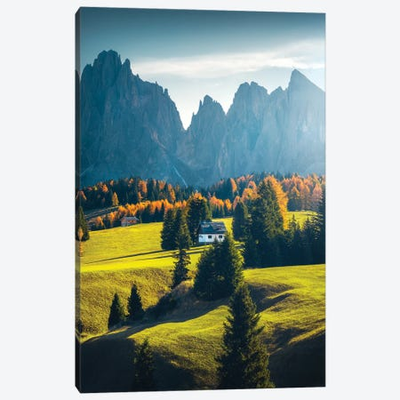 Alpe de Siusi I - Dolomites - Italy Canvas Print #CVK1} by Cuma Çevik Canvas Wall Art