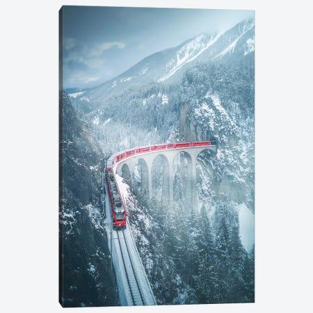 Landwasser Viaduct - Switzerland Canvas Print #CVK20} by Cuma Çevik Canvas Print