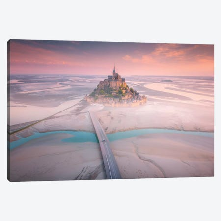Mont Saint Michel I - France Canvas Print #CVK24} by Cuma Çevik Canvas Artwork
