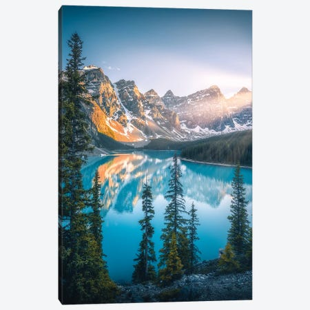 Moraine Lake - Banff - Canada Canvas Print #CVK26} by Cuma Çevik Canvas Art