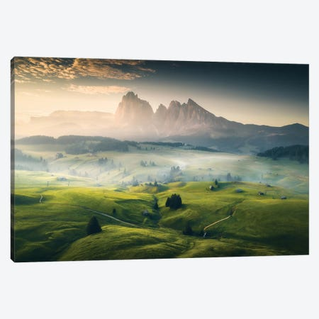 Alpe de Siusi II - Dolomites - Italy Canvas Print #CVK2} by Cuma Çevik Canvas Wall Art
