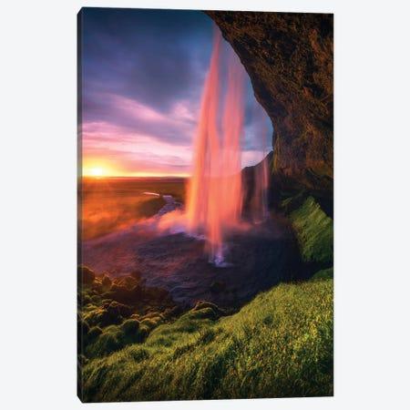 Seljalandsfoss Waterfall - Iceland Canvas Print #CVK35} by Cuma Çevik Canvas Art Print