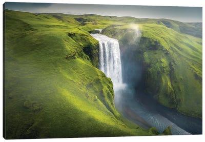 Skogafoss Waterfall - Iceland Canvas Art Print