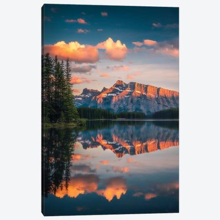 Two Jack Lake - Banff - Canada Canvas Print #CVK43} by Cuma Çevik Canvas Print