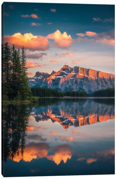 Two Jack Lake - Banff - Canada Canvas Art Print
