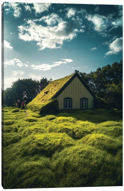 Icelandic Church Canvas Art Print