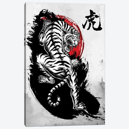 Japanese Tiger Canvas Print #CVL103} by Cornel Vlad Canvas Wall Art