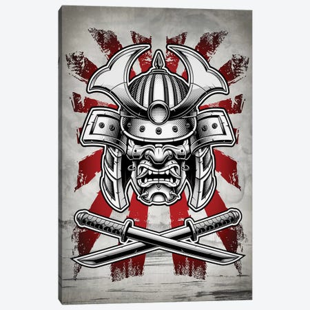 Samurai Mask Canvas Print #CVL104} by Cornel Vlad Canvas Art Print