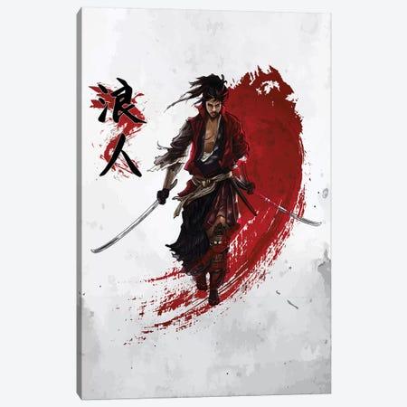 Ronin Samurai Canvas Print #CVL106} by Cornel Vlad Art Print