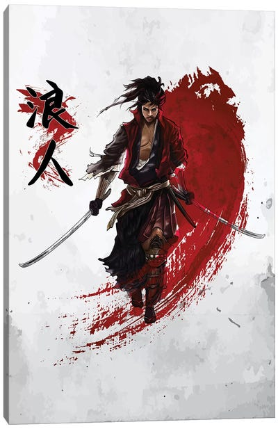 Ronin Samurai Canvas Art Print