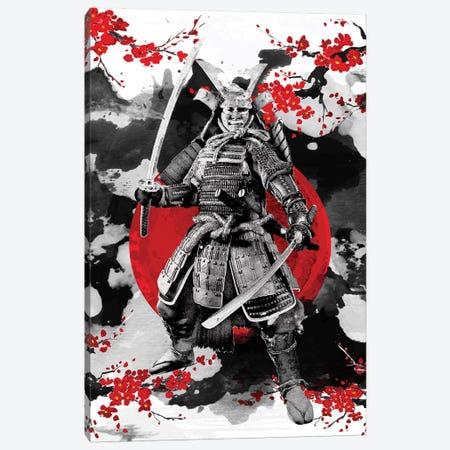 Sakura Samurai Canvas Print #CVL107} by Cornel Vlad Art Print
