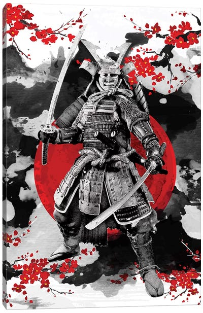 Sakura Samurai Canvas Art Print