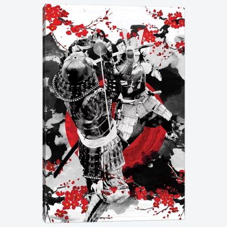 Sakura Samurai Dueling Canvas Print #CVL108} by Cornel Vlad Canvas Artwork