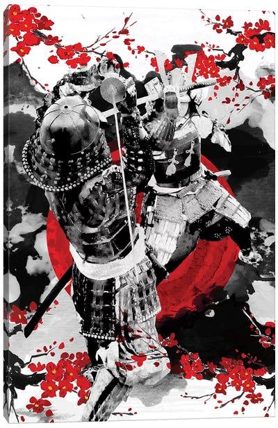 Sakura Samurai Dueling Canvas Art Print