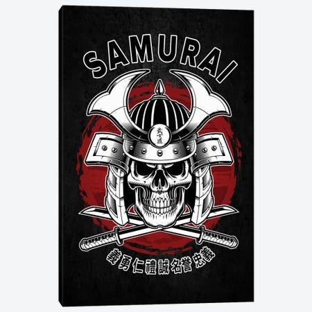 Samurai Skull Canvas Print #CVL109} by Cornel Vlad Canvas Art