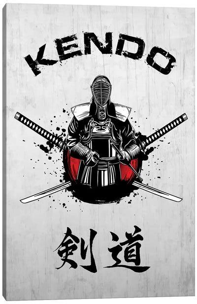 Kendo Fighter Canvas Art Print