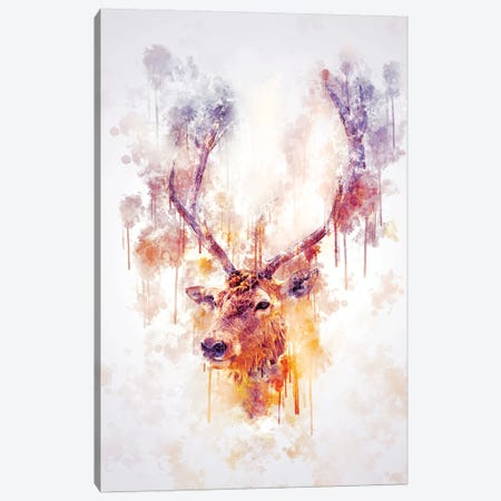 Elk Head Canvas Print #CVL129} by Cornel Vlad Canvas Artwork