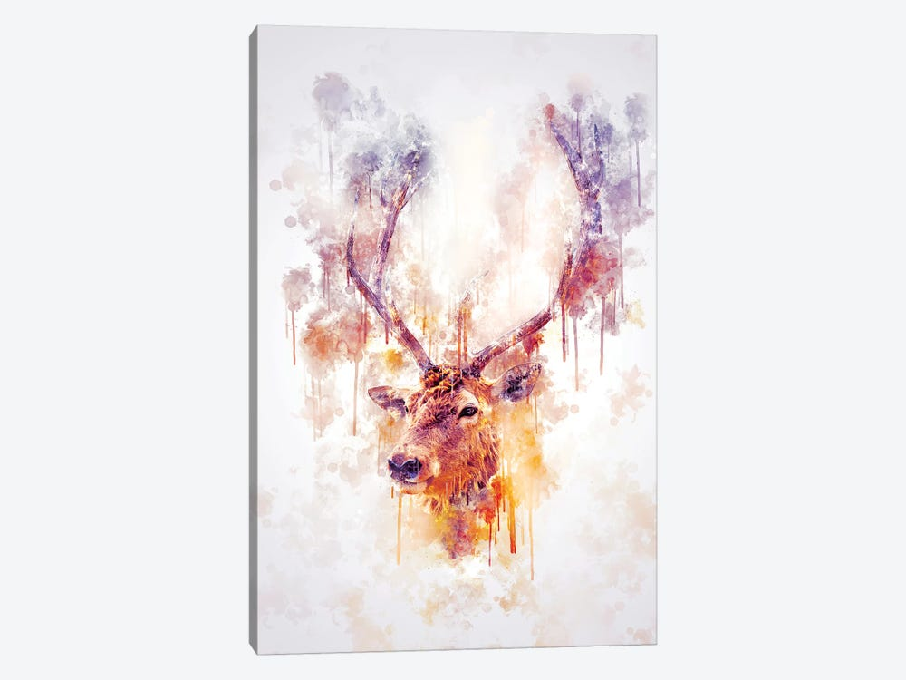 Elk Head by Cornel Vlad 1-piece Canvas Print