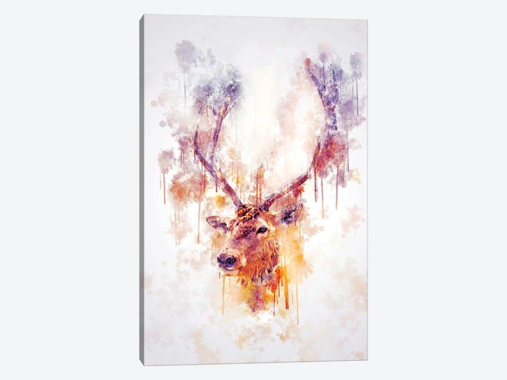 Elk Head by Cornel Vlad 1-piece Canvas Print