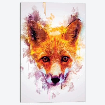 Fox Head 3-Piece Canvas #CVL131} by Cornel Vlad Art Print
