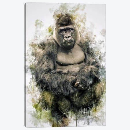 Gorilla Canvas Print #CVL134} by Cornel Vlad Canvas Wall Art