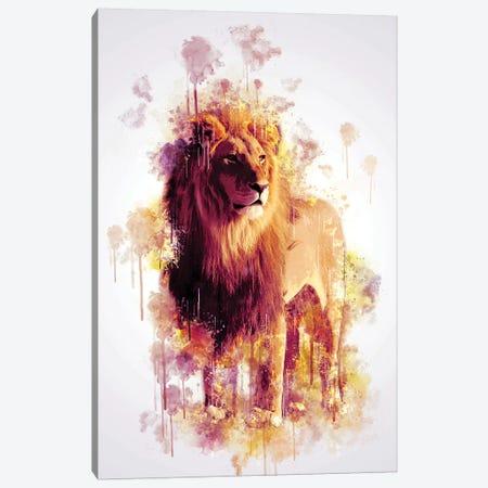 Lion Canvas Print #CVL141} by Cornel Vlad Canvas Artwork