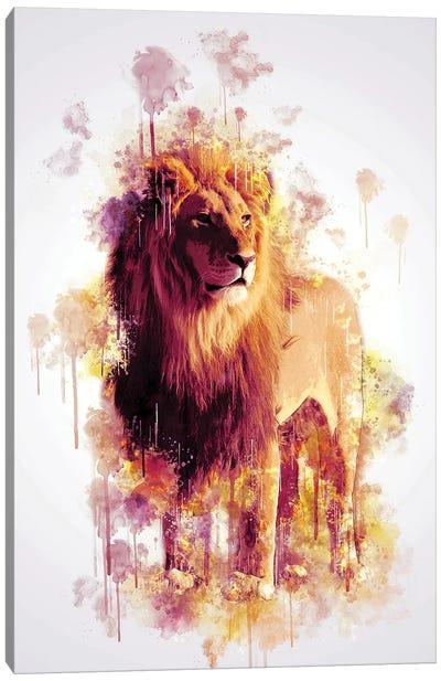 Lion Canvas Art Print