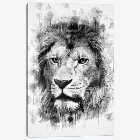 Lion Head 3-Piece Canvas #CVL143} by Cornel Vlad Canvas Art