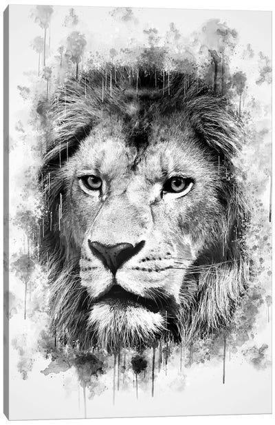 Lion Head Canvas Art Print