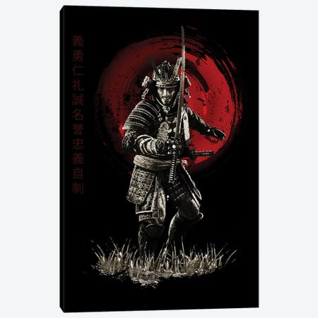 Bushido Samurai Ready To Attack Canvas Print #CVL14} by Cornel Vlad Canvas Art