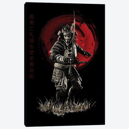 Bushido Samurai Ready To Attack Canvas Print #CVL14} by Cornel Vlad Canvas Art