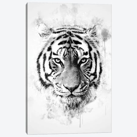 Tiger Head Canvas Print #CVL157} by Cornel Vlad Canvas Artwork